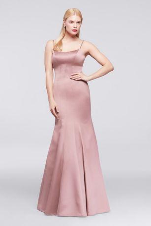 Long Mermaid/ Trumpet Spaghetti Strap Dress - Truly Zac Posen