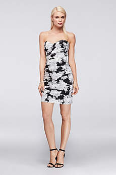 Soft & Flowy Truly Zac Posen Short Bridesmaid Dress