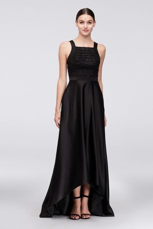 Structured Truly Zac Posen High Low Bridesmaid Dress