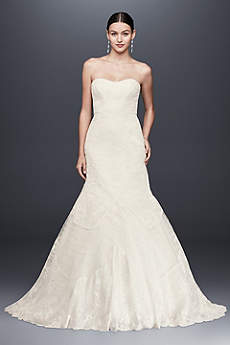 Truly Zac Posen Geometric Corded Wedding Dress