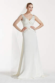 Long Sheath Glamorous Wedding Dress - Truly Zac Posen