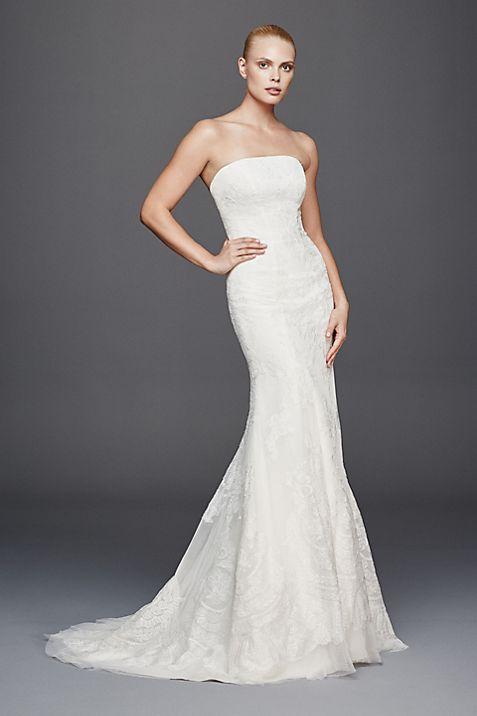 Truly Zac Posen Strapless Lace Wedding Dress | David\'s Bridal