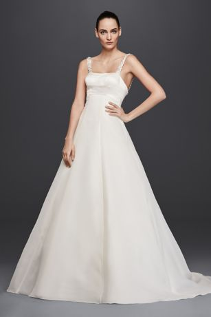 Truly Zac Posen Satin A-Line Wedding Dress