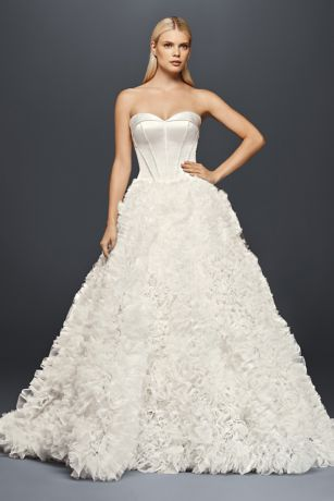 Truly Zac Posen Ruffled Organza Wedding Dress