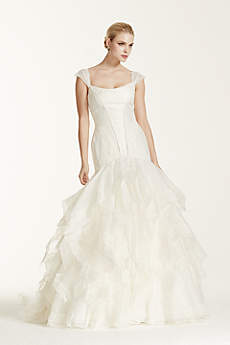 As-Is Wedding Dress with Lace Cap Sleeve