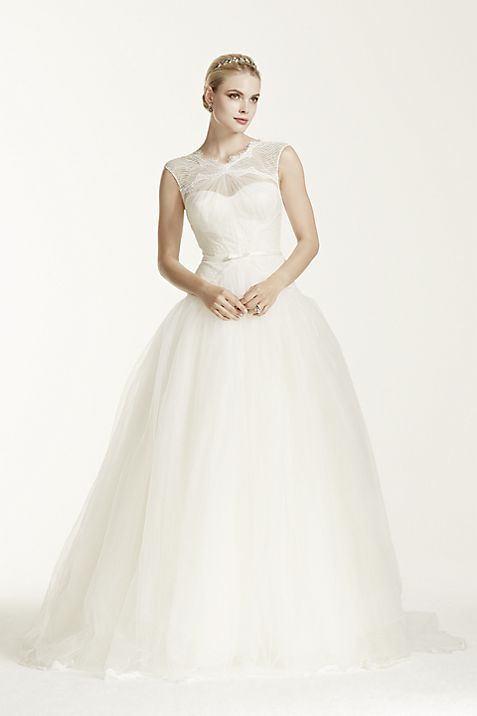 Truly Zac Posen Lace and Tulle Wedding Dress | David\'s Bridal