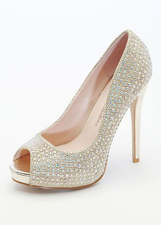 david bridal wedding shoes david s bridal wedding amp bridesmaid shoes glitter peep toe 3314