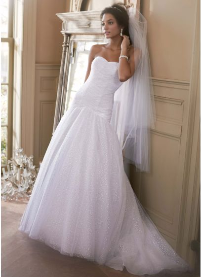 Sweetheart Sequin Tulle Ball Gown with Corset Back | David\'s Bridal