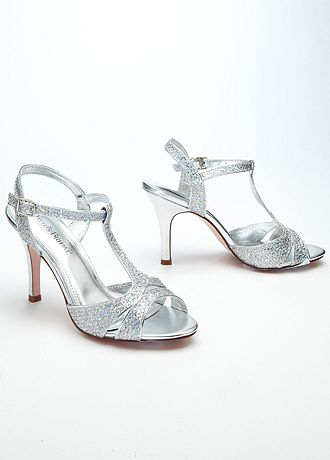 david bridal wedding shoes david s bridal wedding amp bridesmaid shoes sparkle mesh t 3314