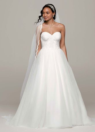 Ball Gown with Lace Corset Bodice