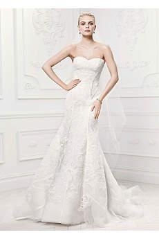 As-Is Satin Details Tulle Mermaid Wedding Dress