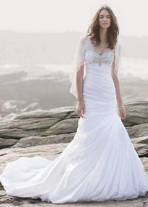 Strapless Sweetheart Trumpet Wedding Gown | David\'s Bridal