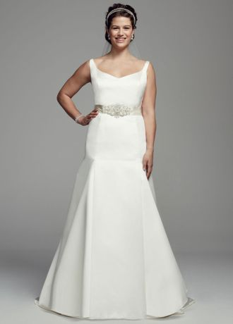Trumpet Gown with Button Back Detail