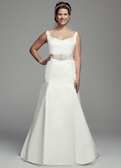 Trumpet Gown with Button Back Detail | David\'s Bridal