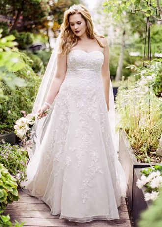 As Is Sweetheart A Line Gown with Lace Appliques