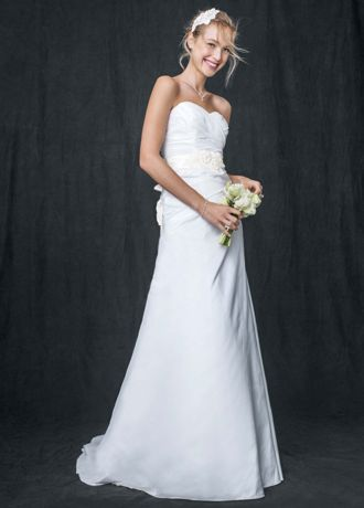 Taffeta A Line Gown with Sweetheart Neckline