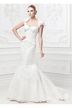 Truly Zac Posen Flutter Sleeve Wedding Dress AI34010007