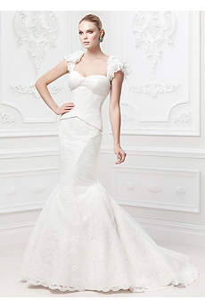 Truly Zac Posen Flutter Sleeve Wedding Dress