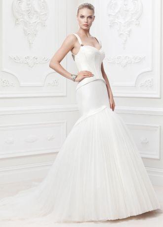 Truly Zac Posen Corset Seam Wedding Dress