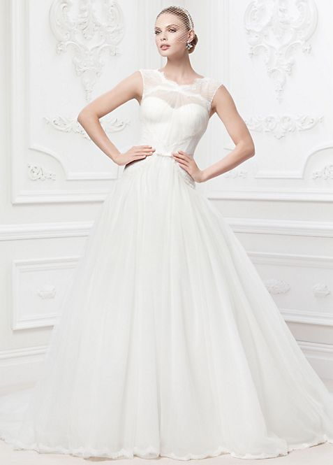 As-Is Truly Zac Posen Lace and Tulle Wedding Dress | David\'s Bridal