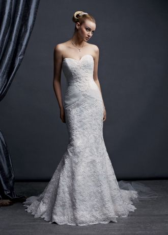 Sweetheart Beaded Lace Trumpet Gown