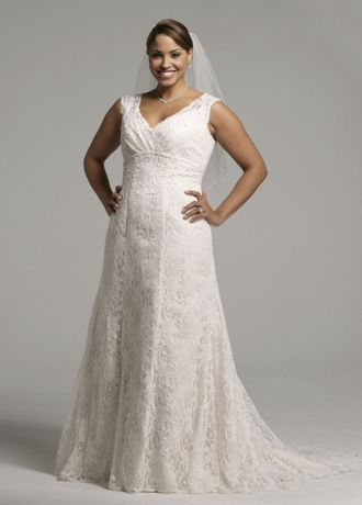 All Over Beaded Lace Trumpet Gown