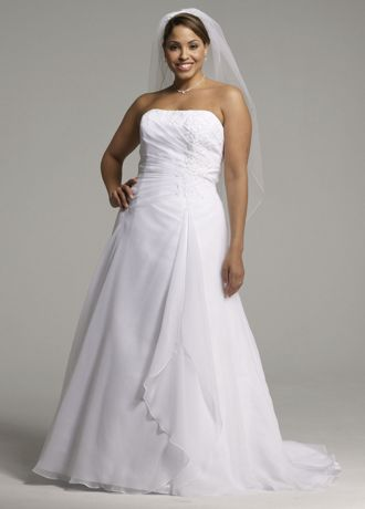Chiffon A-line Gown with Side Draped Bodice