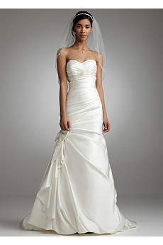 Satin Mermaid Gown with Bow Detail