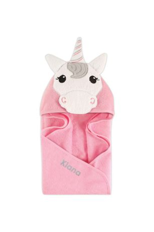 Unicorn Animal Face Hooded Towel