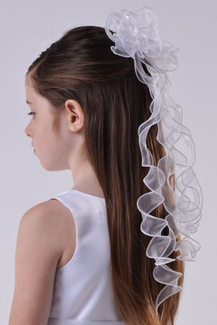 Organza Floret and Twirly Ribbon Comb